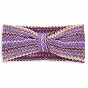 Missoni purple knit headband
